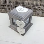 Shabby Chic PERSONALISED Rustic Wood In Memory Of DAD Photo Cube ANY NAMES - 332869700469